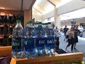 FILE PHOTO: Plastic bottles are seen at SFO airport, which has banned the sale of plastic bottles that contain less than a liter of water, in San Francisco