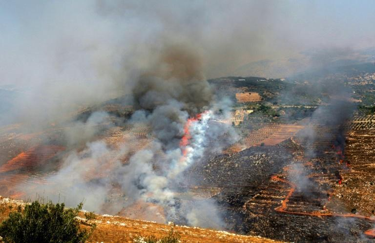 Israeli shelling sparks multiple brush fires in the tinder-dry conditions in south Lebanon