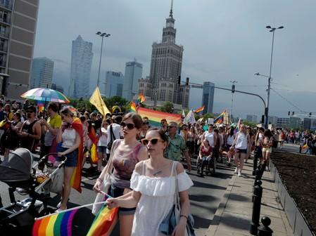 """Equality Parade"" rally in support of the LGBT community in Warsaw"