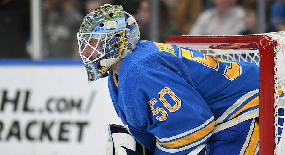 Jordan Binnington is expected to release a statement on Wednesday. (Photo by Keith Gillett/Icon Sportswire via Getty Images)