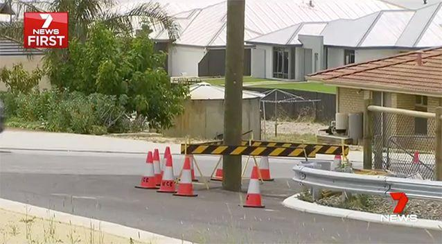 The pole has been left in the middle of a road. Source: 7 News