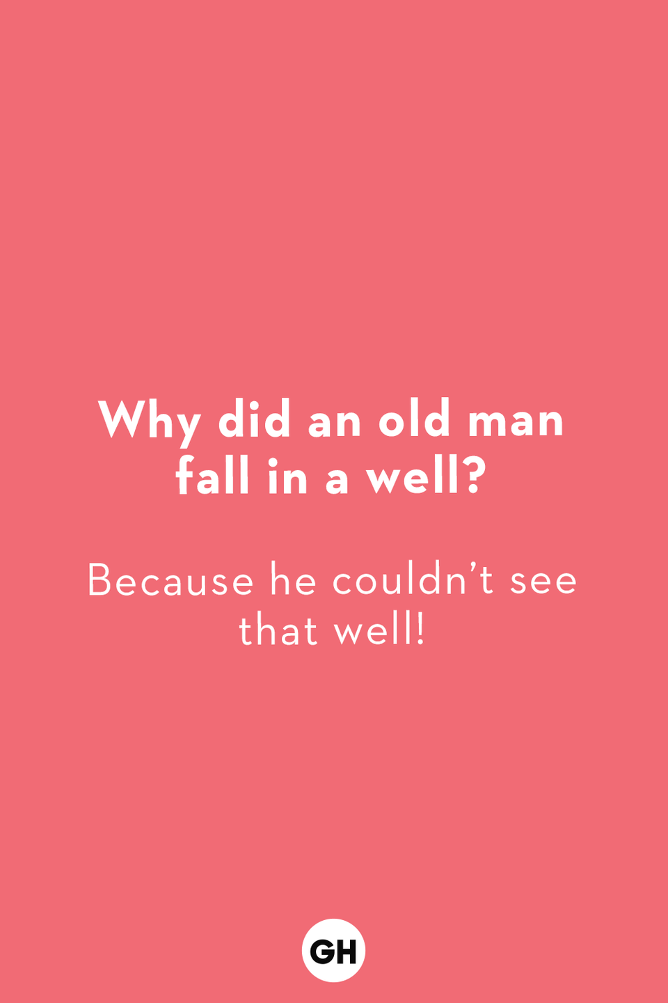 <p>Because he couldn't see that well!</p>