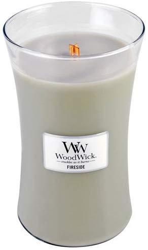 """<h3>WoodWick Fireside Candle</h3><br>This top-rated and wood-wicked candle, as one R29 reader attested in the comments below, """"both smells like and sounds like a real crackling fireplace!"""" <br><br><strong>woodwick</strong> Candle Fireside Large Jar, $, available at <a href=""""https://amzn.to/2P6GHWQ"""" rel=""""nofollow noopener"""" target=""""_blank"""" data-ylk=""""slk:Amazon"""" class=""""link rapid-noclick-resp"""">Amazon</a>"""