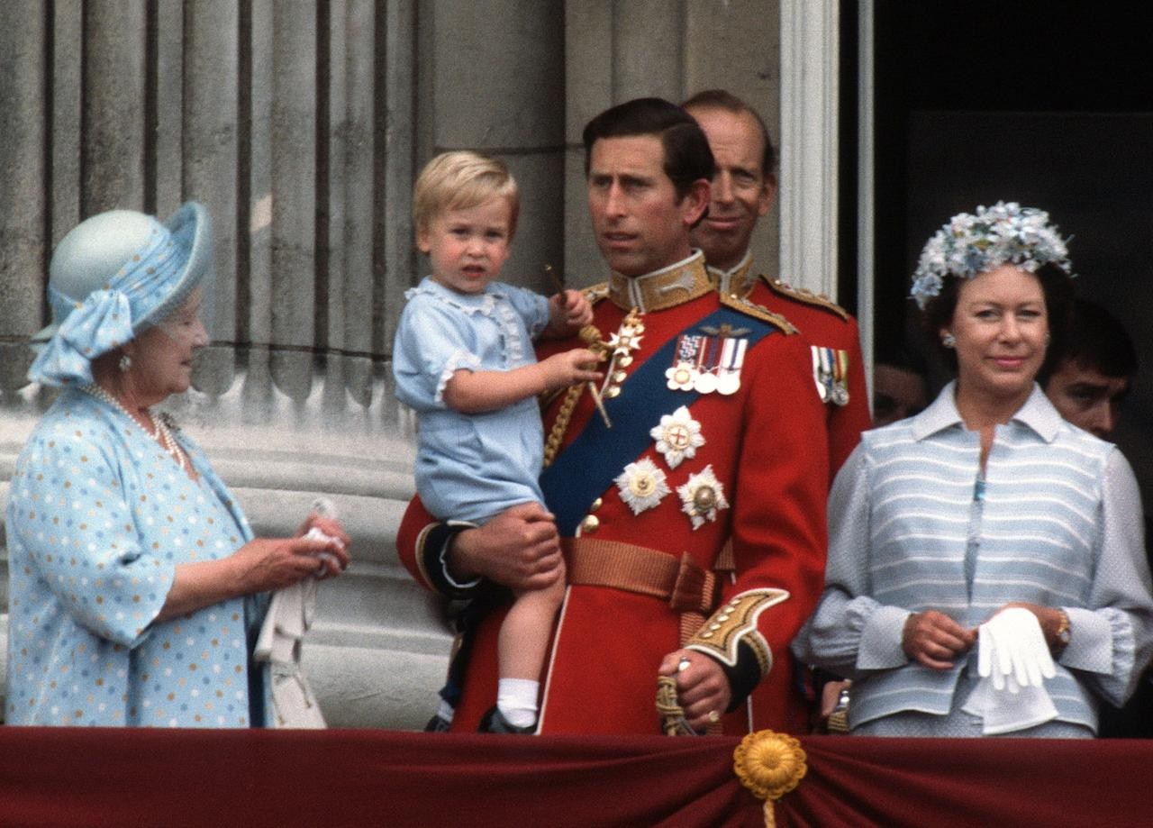 """<p>In 1984, <a href=""""https://www.popsugar.com/celebrity/Royal-Family-Trooping-Colour-Through-Years-44918540"""" class=""""ga-track"""" data-ga-category=""""Related"""" data-ga-label=""""https://www.popsugar.com/celebrity/Royal-Family-Trooping-Colour-Through-Years-44918540"""" data-ga-action=""""In-Line Links"""">Prince William appeared at Trooping the Colour</a> for the first time, wearing a blue onesie we would see again 31 years later.</p>"""