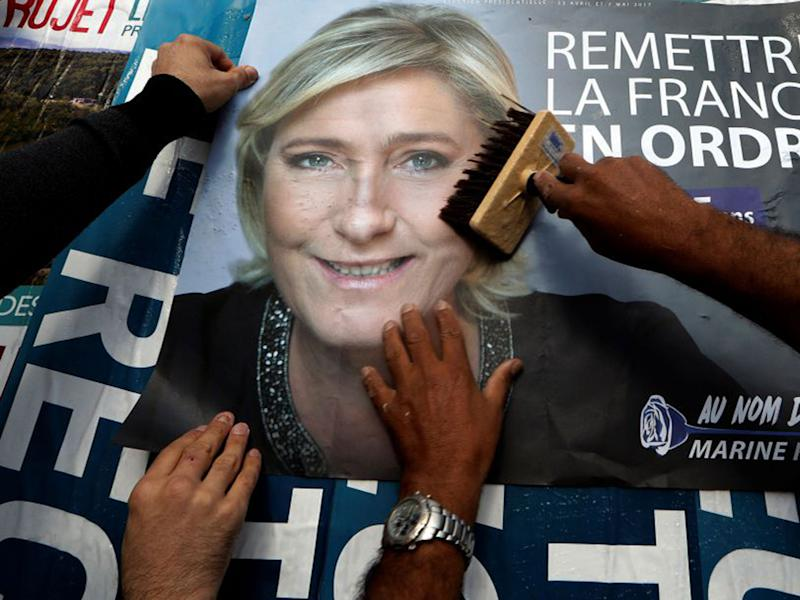 Ms Le Pen has taken something of a political pasting over the past week: Reuters