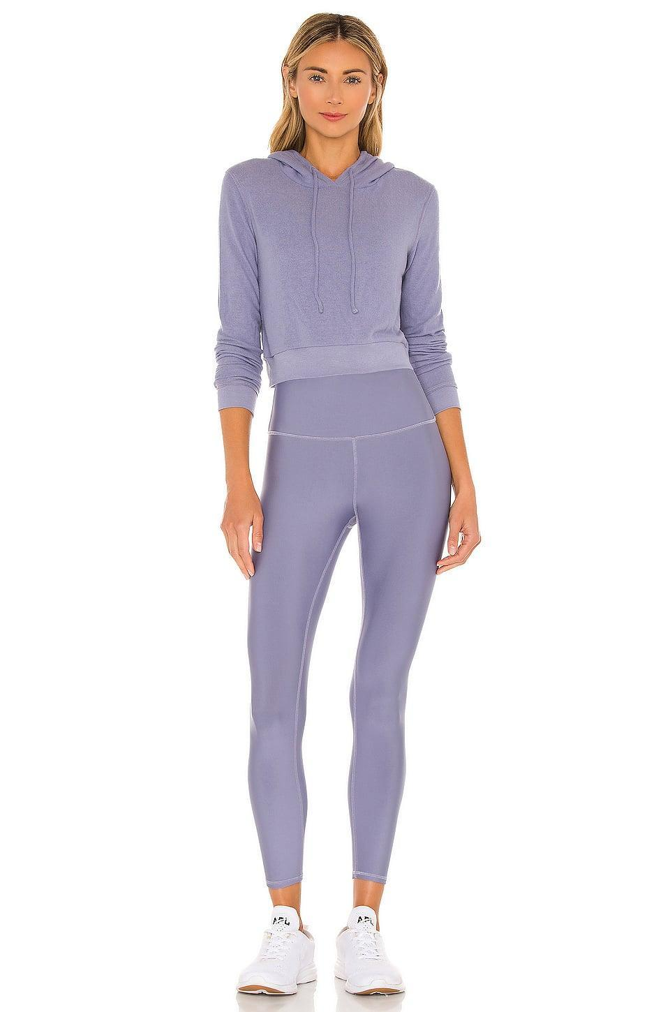 <p>We love the color of this <span>Alo Getaway Hoodie</span> ($97) and matching <span>7/8 High Waist Airlift Legging</span> ($125).</p>
