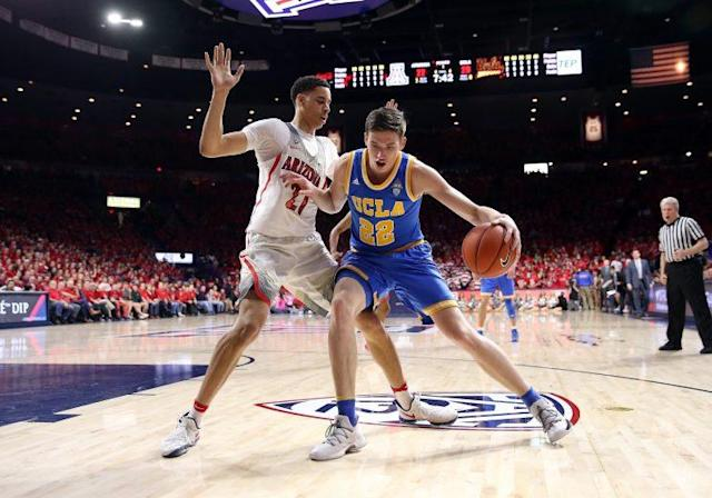 TJ Leaf was on the taller end of the age spectrum growing up, but played as a two or a three until his growth spurt. (Getty)