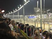 Fans watching the race from the grandstand. (PHOTO: Yahoo Lifestyle Singapore)