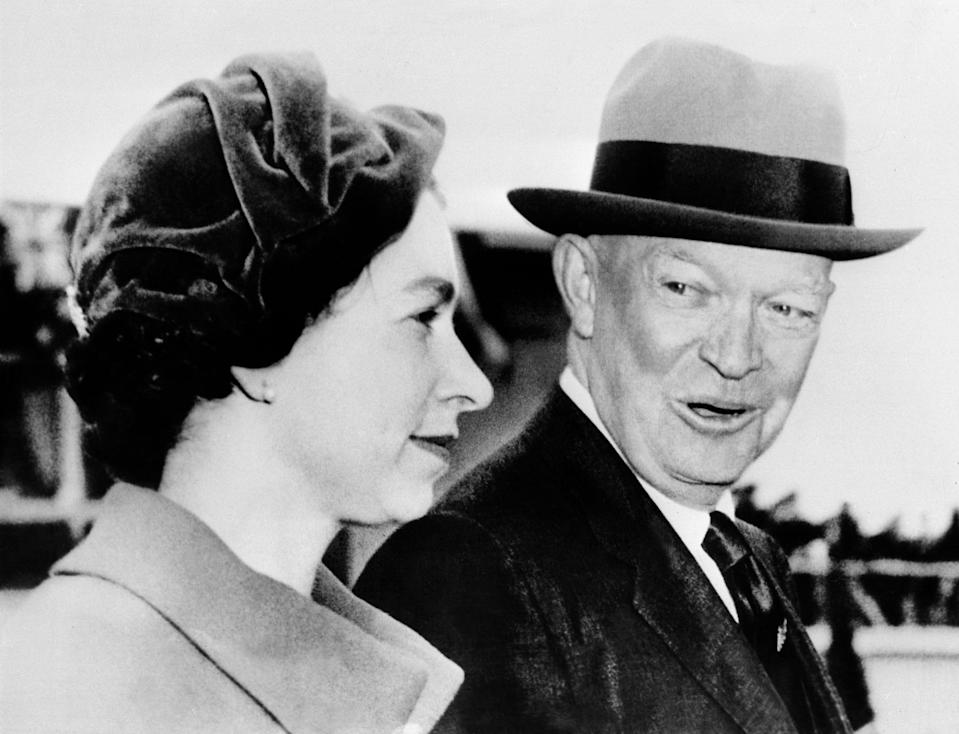 The Queen with Dwight Eisenhower, in 1957 (AFP/Getty)