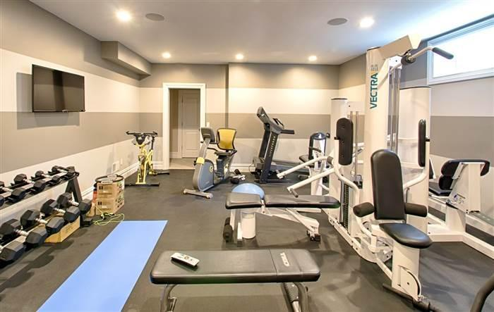 <p>It features a private home gym with all the latest gym equipment.</p>