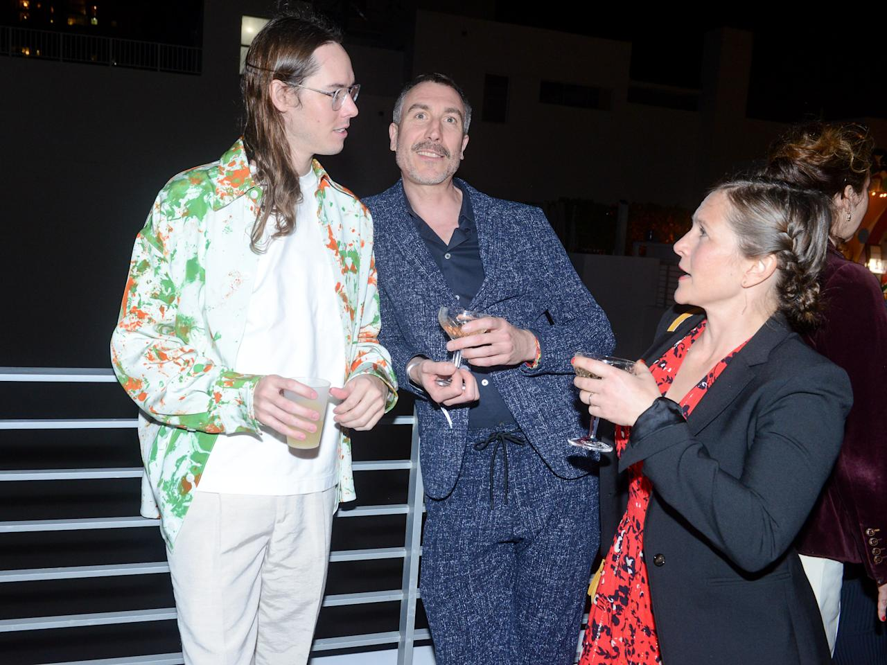Tyler Britt, Andreas Gegner, and Franziska Von Hasselbach attend ICA Dinner For Sterling Ruby at Soho Beach House.