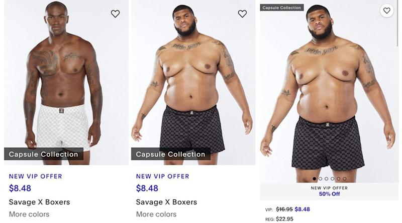 Rihanna's Men's Collection of Savage X Fenty Is for EVERYBODY! Badgirl RiRi Goes for Plus-Sized Male Models with Dad Bods on Her Site, and Twitter Is in LOVE