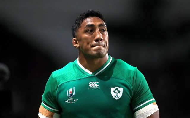 Ireland's Bundee Aki was sent off in the 28th minute (Adam Davy/PA).