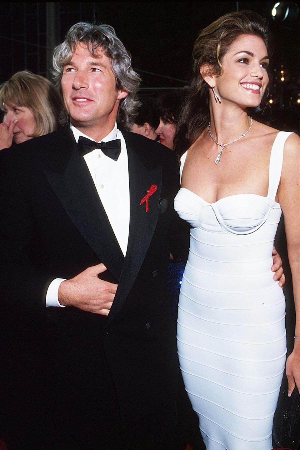 <p>With husband Richard Gere at the 65th Academy Awards in Los Angeles in 1992.</p>