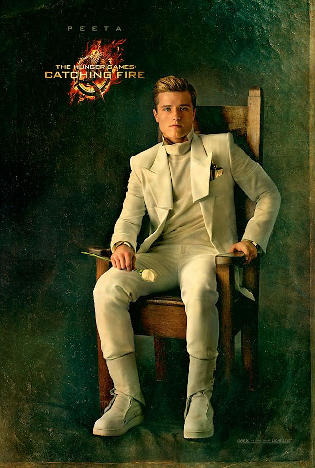 """Josh Hutcherson as Peeta Mellark in the final Capitol Portrait for """"The Hunger Games: Catching Fire"""" - 2013"""
