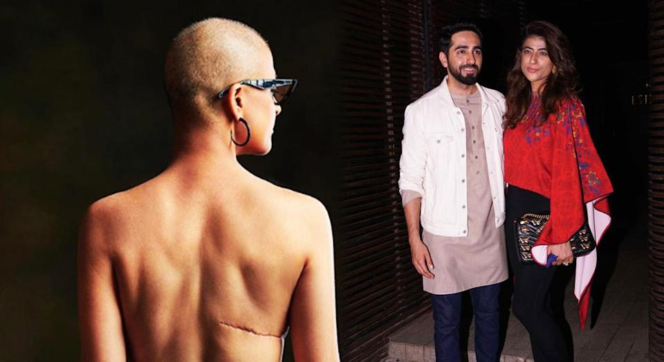 Tahira Kashyap has bravely shared an image of her cancer scars, pictured here with her husband, Ayushmann Khurrana [Photo: Getty/Instagram]