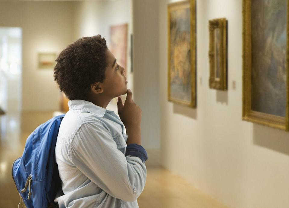 <p>If it's safe enough in your area to visit public spaces, take a trip to a local museum. They make perfect indoor playgrounds for inquisitive minds, not to mention conversation-starters later. Many even offer free tours, to get even more out of the experience. </p>