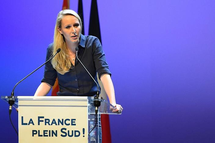 Marion Marechal-Le Pen is ahead in the race for the vast southeastern region that includes the French Riviera (AFP Photo/Boris Horvat)