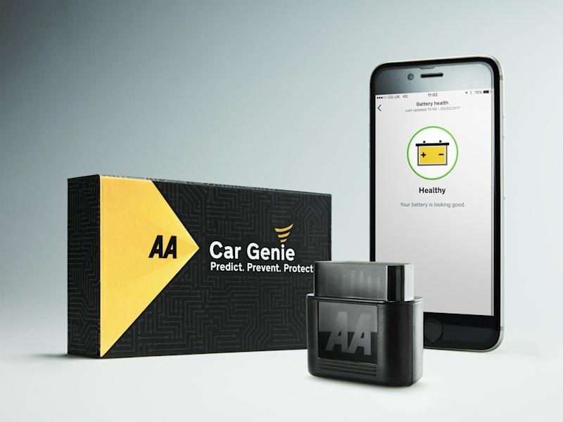 Car Genie works alongside an app that's free to download for both iOS and Android users
