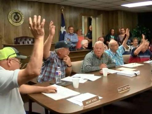 """A small town in East Texas outlawed abortion after a council of five men declared the town a """"sanctuary city for the unborn"""".Waksom, Texas, has a population of just over 2,000 people and borders Louisiana. The town has no abortion clinics. Despite this, the city council, which is comprised of five white men, signed a city ordinance banning abortion, with exceptions for rape, incest, and the health of the pregnant person as reported by the Washington Post. The city council was applauded by community members after passing the ordinance as a """"preventative measure"""". The measure states """"the Supreme Court erred in Roe v. Wade when it said that pregnant women have a constitutional right to abort their """"pre-born children"""" and co-opts pro-immigrant language, using the term """"sanctuary city"""", which generally refers to cities where migrants leading safe and lawful lives are safe from deportation. After Louisiana passed a restrictive abortion bill, anti-choice activists were fearful that a nearby facility across the border would move near their community. This city ordinance comes with the rising tides of abortion bans across America, ranging from foetal heartbeat bills to an all out ban in Alabama. This move, like many of the other abortion bans, is set up to provide a legal challenge to the Supreme Court precedent of Roe v Wade, which defends a pregnant persons right to abortion until foetal viability. The measure describes Roe v Wade as a """"lawless and illegitimate act of judicial usurpation, which violates the Tenth Amendment by trampling the reserved powers of the States, and denies the people of each State a Republican Form of Government by imposing abortion policy through judicial decree.""""With a conservative leaning Supreme Court bench, it is believed that the 1973 case may be overturned and federal protections for abortion will cease.Town residents aren't concerned about a potential costly legal battle as, according to local media, """"they say God will take care of them.""""On"""