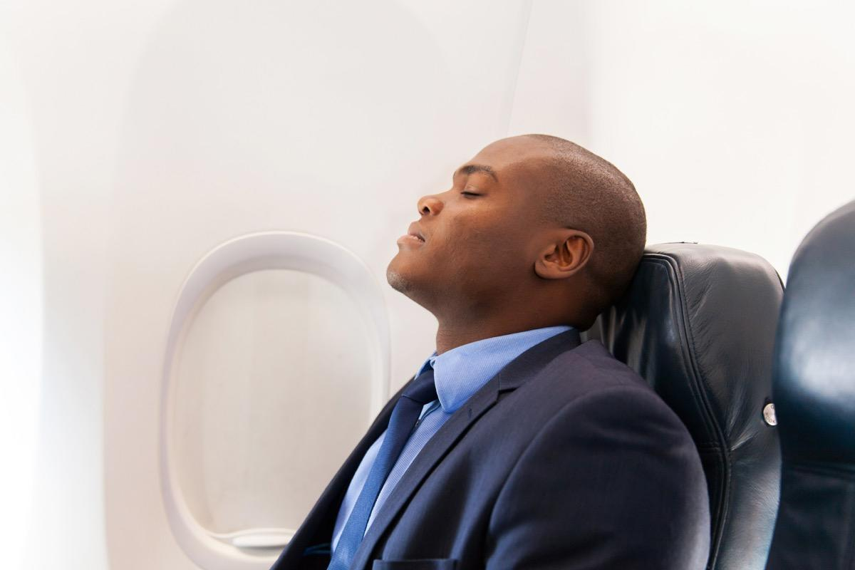 """<a href=""""https://bestlifeonline.com/grossest-spots-airplanes/?utm_source=yahoo-news&utm_medium=feed&utm_campaign=yahoo-feed"""" target=""""_blank"""">Airplane travel</a> is the bane of every vacationer's existence—and it's not just because of the overcrowded airports, standstill security lines, and subpar food offerings. It's that flying wreaks havoc on our bodies. Once you're settled on the plane, you have to worry about <a href=""""https://bestlifeonline.com/dry-skin/?utm_source=yahoo-news&utm_medium=feed&utm_campaign=yahoo-feed"""" target=""""_blank"""">dried-up skin</a>, bloated stomachs, and painfully popping ears. Even if you're in the first class cabin, there's frankly not a whole lot you can do about the way flying on an airplane affects your body. What you <em>can</em> do, however, is bone up on what exactly those effects are, so, at the very least, you can know what to expect. Keep reading to discover what exactly happens to your body on an airplane!      <div class=""""number-head-mod number-head-mod-standalone"""">         <h2 class=""""header-mod"""">                     <div class=""""number"""">1</div>             <div class=""""title"""">Your taste buds go numb.</div>                     </h2>     </div>"""