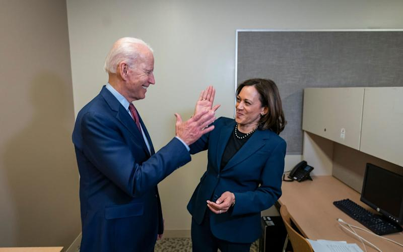 Joe Biden, with Kamala Harris, dismissed Donald Trump claims about his mental fitness for office - EPA