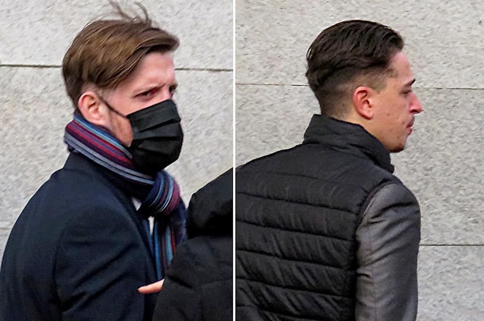 (L-R) Oliver Crabtree and Jordan Band have been spared jail for the assault (swns)