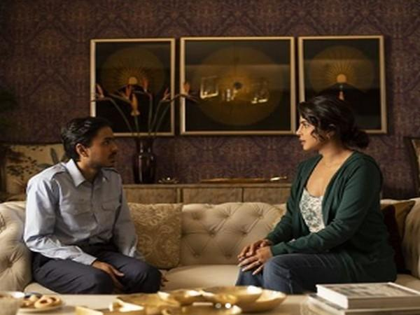 A still from 'The White Tiger' featuring Priyanka Chopra and Adarsh Gourav. (Image Source: Instagram)
