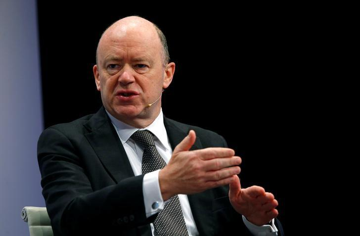 CEO of Deutsche Bank, Cryan speaks during the 27th European Banking Congress at the Old Opera house in Frankfurt