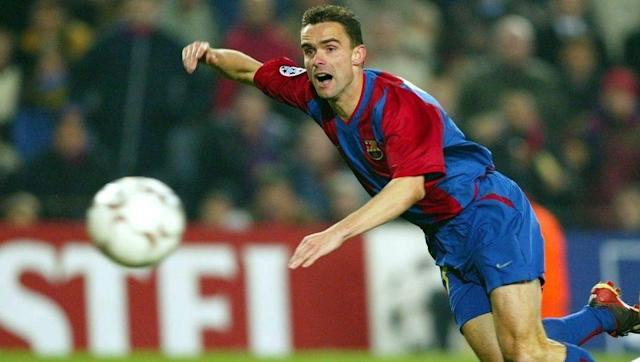 <p>Marc Overmars moved to Barcelona in a combined fee with Arsenal team-mate Emmanuel Petit in the summer of 2000, with Overmars believed to have cost €40m.</p> <br><p>He made his debut for Barcelona against Arsenal in a friendly, but was substituted early on due to injury.</p> <br><p>This was a sign of things to come, and after four years in which he didn't win a trophy at Barcelona, he was forced to retire in July 2004 due to a persistent knee injury.</p>