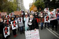 FILE PHOTO: Protest against imposing further restrictions on abortion law, in Warsaw