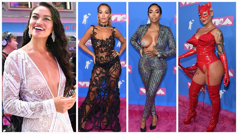 <p>Scroll through to see the most sheerly daring dresses from the 2018 red carpet. Photo: Getty </p>