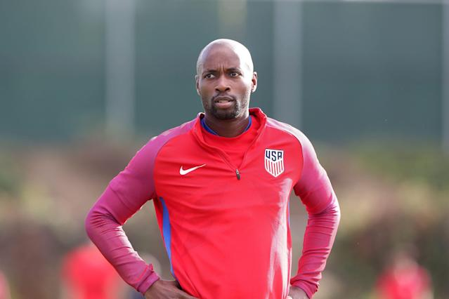 DaMarcus Beasley, the first American male to appear in four FIFA World Cups, announced on Monday that he will retire at the end of the Houston Dynamo's season. (Andy Mead/Getty)