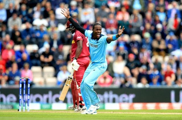 Jofra Archer took three wickets against the West Indies at last year's World Cup