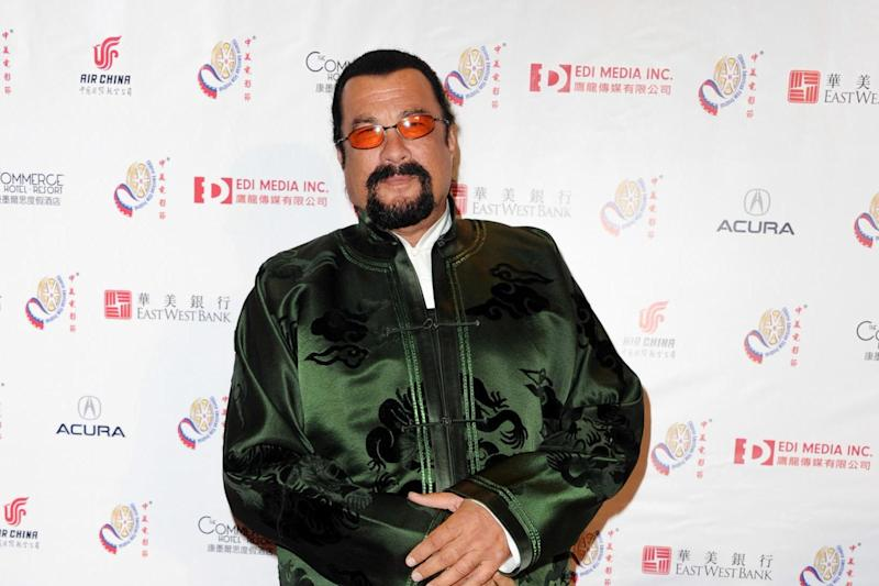 Steven Seagal is known for action roles including Under Siege and Flight of Fury: Getty Images