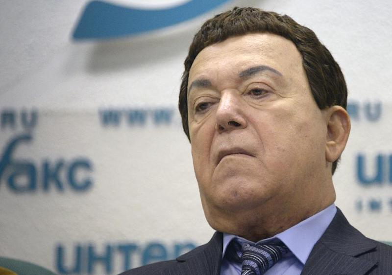 Russian singer and lawmaker Iosif, or Joseph Kobzon, was targeted because of his support for the annexation of Crimea and his concerts in Donetsk, where he himself was born