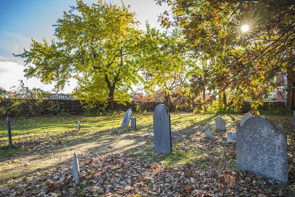 """<p>If you really want to get spooked, you can do a graveyard or ghost tour and learn about all of those who've been buried from the witch trials and beyond. The graveyards in Salem date back to the early 1600s, so you can imagine how unsettling the stones look. I recommend <a href=""""https://www.salem.org/listing/candlelight-ghostly-graveyard/"""" class=""""link rapid-noclick-resp"""" rel=""""nofollow noopener"""" target=""""_blank"""" data-ylk=""""slk:the candlelight ghost tour"""">the candlelight ghost tour</a>, as it sets the tone for a frightful night.</p>"""