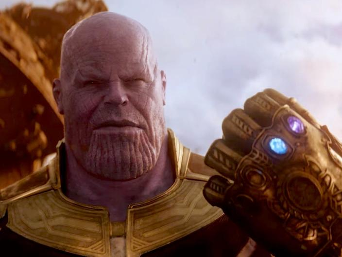 Thanos with gauntlet Avengers Infinity War trailer