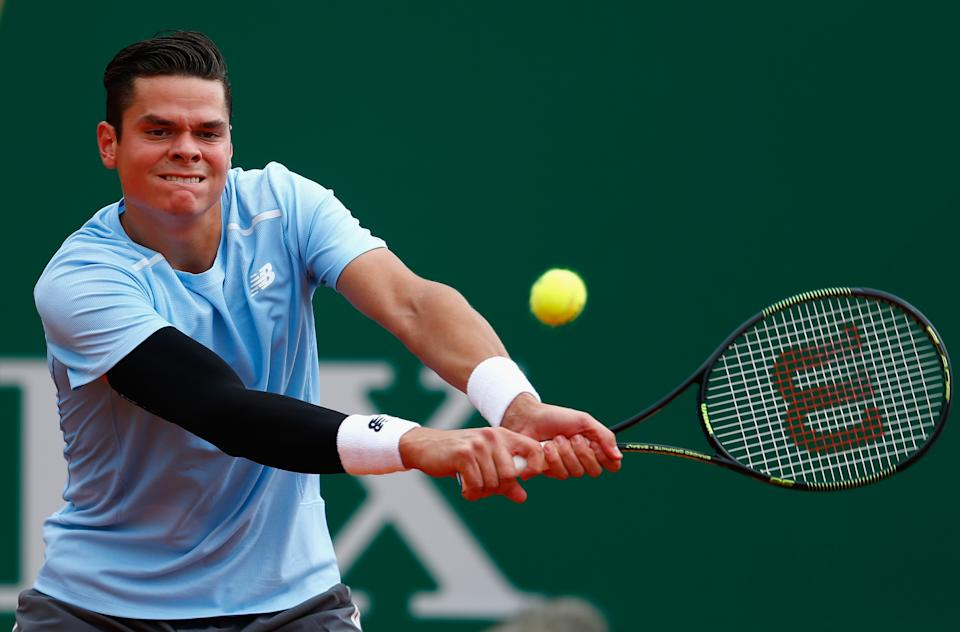 Despite a foot injury, Raonic prevailed over tough clay-court customer Tommy Robredo. (Photo by Julian Finney/Getty Images)