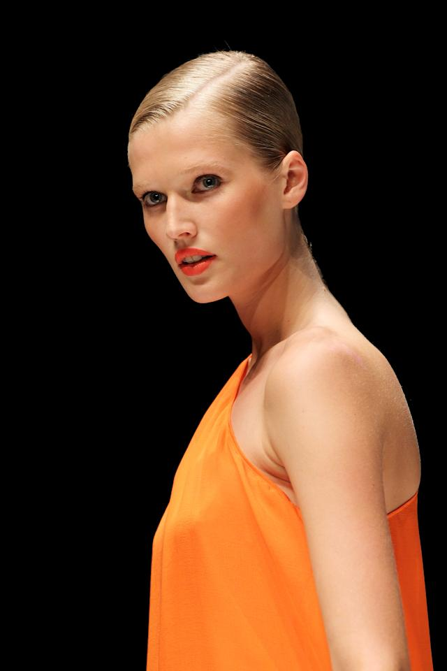 Model Toni Garrn walks the runway at the Michalsky Show at the Michalsky Style Nite at Tempodrom during the Mercedes Benz Fashion Week Spring/Summer 2011 on July 9, 2010 in Berlin, Germany.  (Photo by Sean Gallup/Getty Images)