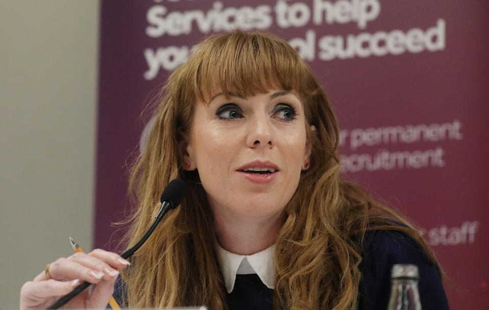 Shadow education secretary Angela Rayner speaks during a fringe event on the third day of the Labour Party annual conference at the Brighton Centre in Brighton. Picture dated: Monday September 23, 2019. Photo credit should read: Isabel Infantes / EMPICS Entertainment.