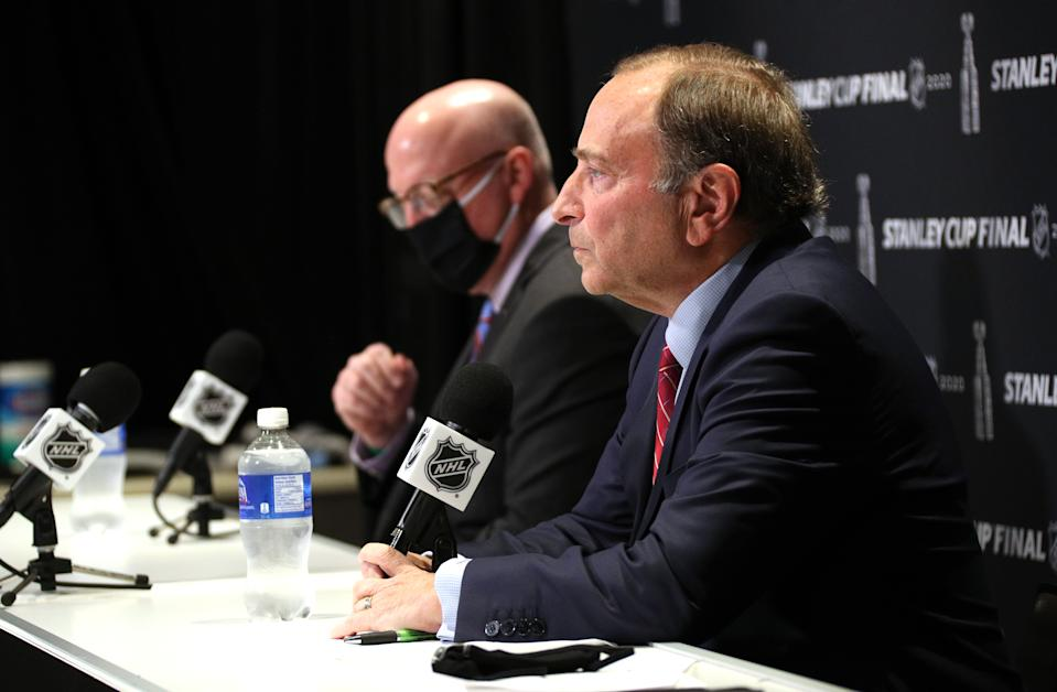 The NHL is reportedly inching closer to releasing a return-to-play plan for the 2020-21 season. (Getty)