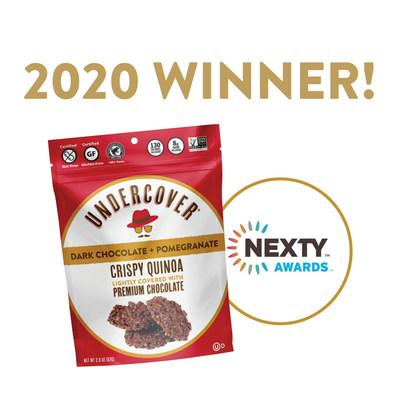 Undercover Snacks New Dark Chocolate + Pomegranate Flavor Wins Natural Products Expo West 2020 NEXTY Awards