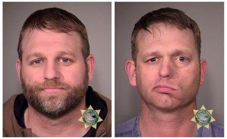 Ammon and Ryan Bundy are seen in police jail booking photos released by the Multnomah County Sheriff's Office