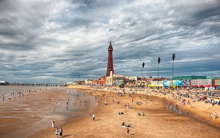 Blackpool boasts miles of sandy beachGetty Images