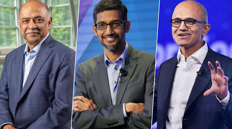 Arvind Krishna Named New IBM CEO; From Google's Sundar Pichai to Microsoft's Satya Nadella, List of Indian-Origin CEOs Leading Global Organisations