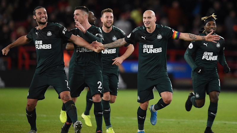 Newcastle celebrate vs Sheffield United