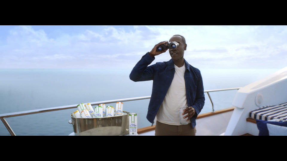 This photo provided by Michelob shows a scene from Michelob ULTRA Organic Seltzer 2021 Super Bowl NFL football spot. (Michelob via AP)