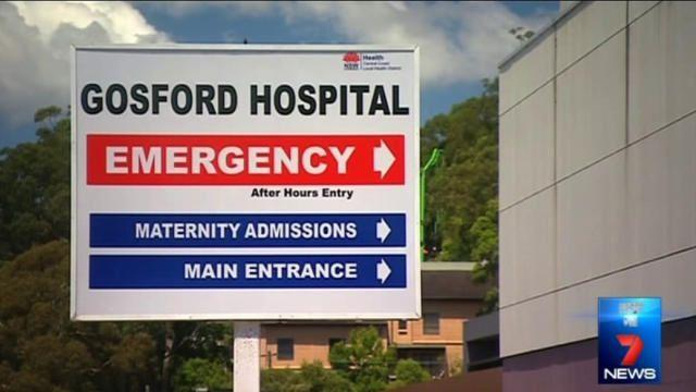 The patient was being treated at Gosford Hospital at the time of the intrusion. Photo 7News