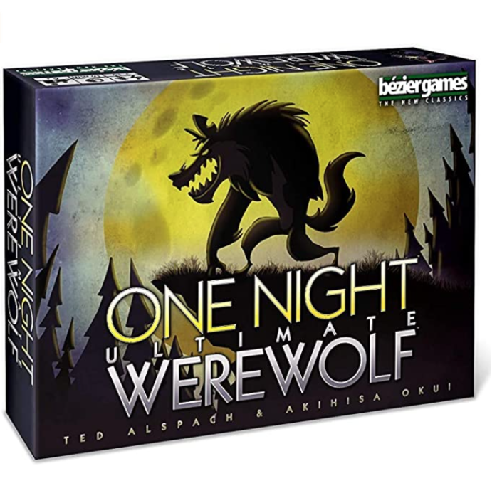 """<p><strong>Bezier Games</strong></p><p>amazon.com</p><p><strong>$24.95</strong></p><p><a href=""""https://www.amazon.com/dp/B00HS7GG5G?tag=syn-yahoo-20&ascsubtag=%5Bartid%7C2139.g.37612148%5Bsrc%7Cyahoo-us"""" rel=""""nofollow noopener"""" target=""""_blank"""" data-ylk=""""slk:BUY IT HERE"""" class=""""link rapid-noclick-resp"""">BUY IT HERE</a></p><p>One Night Werewolf is a game of deceit, giving each player a unique role with the goal of finding the """"werewolf"""" in the bunch of """"villagers."""" Vote the werewolf out and the villagers win. Vote a fellow villager out and the werewolf prevails. It's perfect for family game night, recommended for ages 8 and up.</p>"""